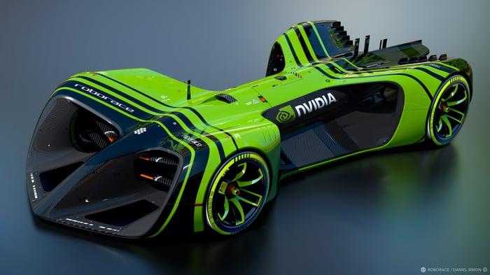 "NVIDIA's ""Roborace"" vehicle."