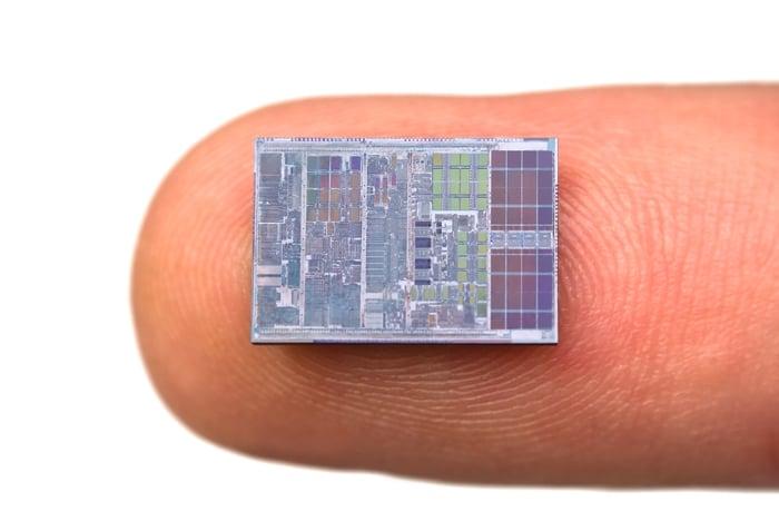 A microchip on a fingertip