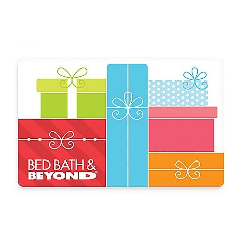 A Bed, Bath & Beyond gift card