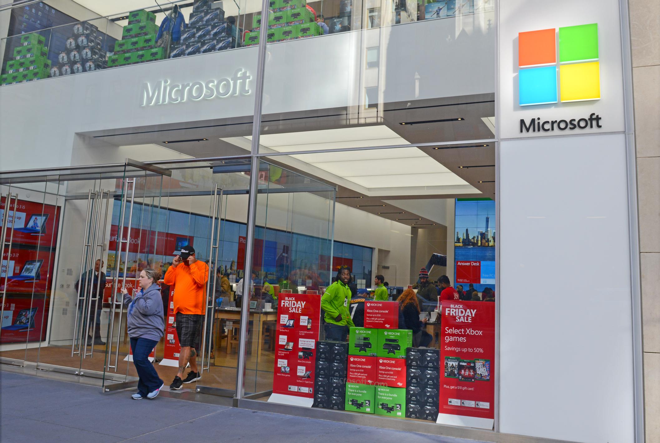 A Microsoft storefront.