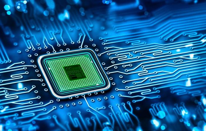 Microchip on circuit board