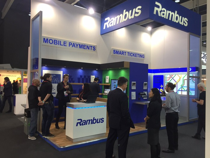 Rambus conference hall booth.