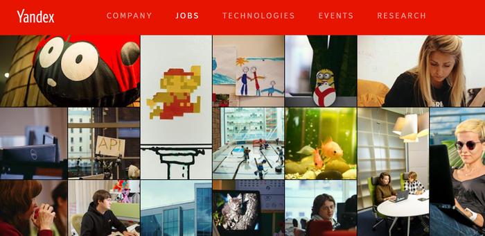 Yandex jobs board of pictures.