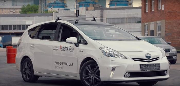 Yandex self driving car.