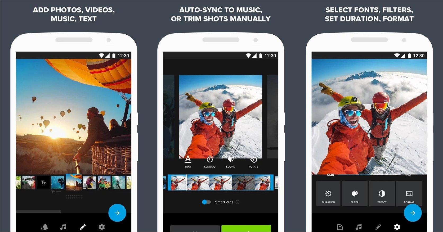 GoPro's Quik app.
