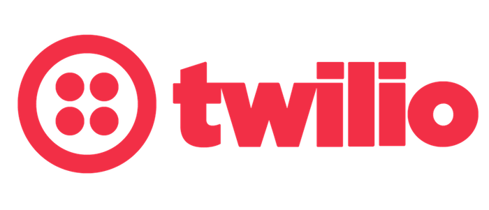 Red Twilio logo.