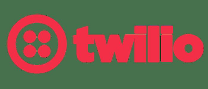 Red Twilio logo.