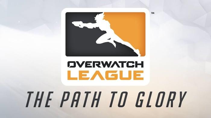 The Overwatch League logo.