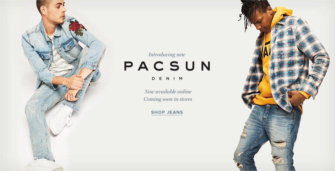 PacSun's denim apparel.
