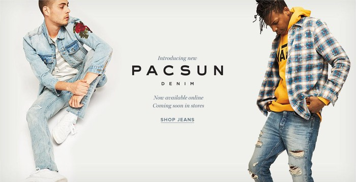 PacSun's denim apparel.