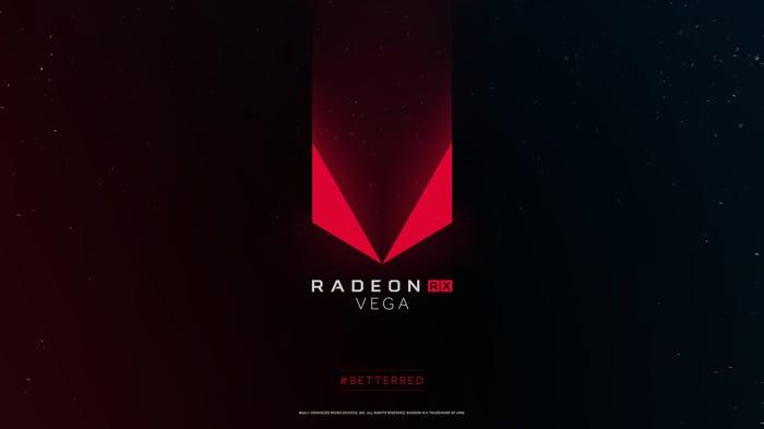 The AMD Radeon RX Vega logo.