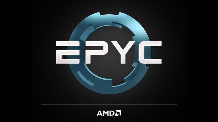 The AMD EPYC logo.