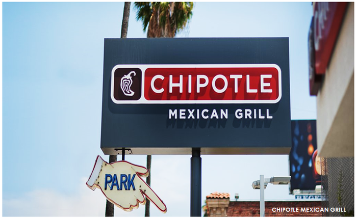 Chipotle sign.