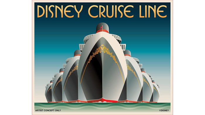 Concept art of Disney's seven ships that will be sailing by 2023.