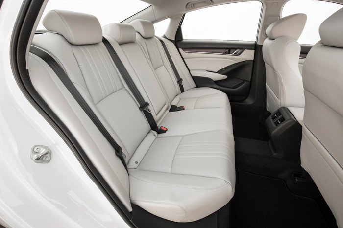 A view of the rear seat of the 2018 Honda Accord.