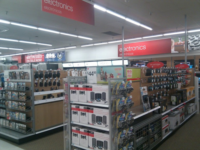 Sears store electronics section.