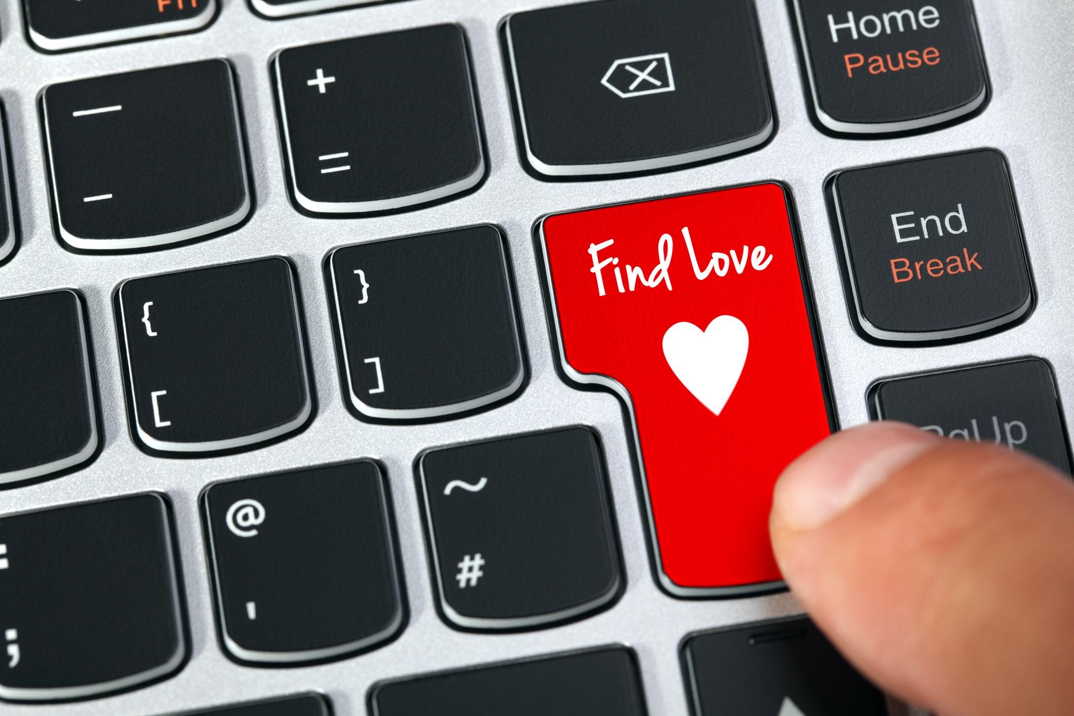 Online dating keyboard.