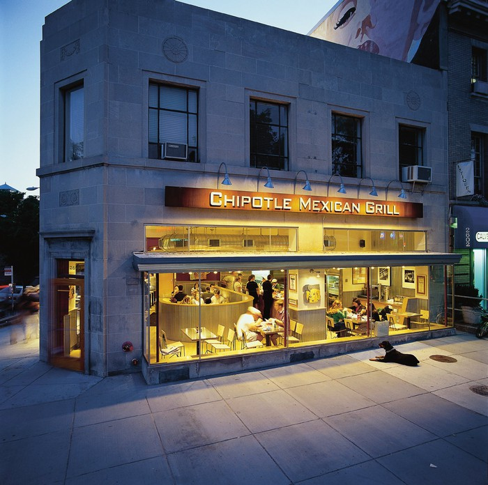 A Washington, DC Chipotle location