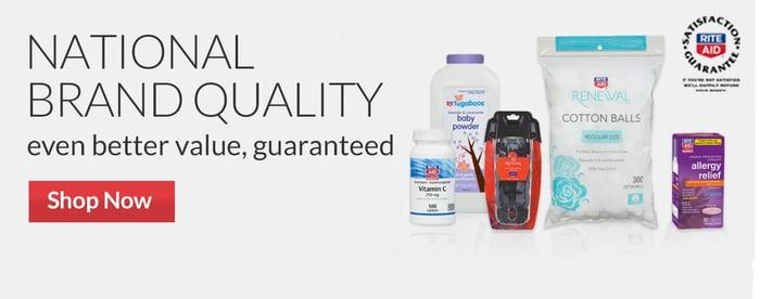 Rite Aid generic brands.