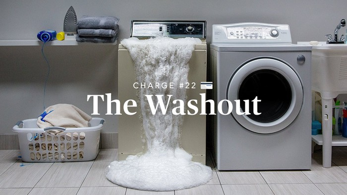 Image of washer overflowing.