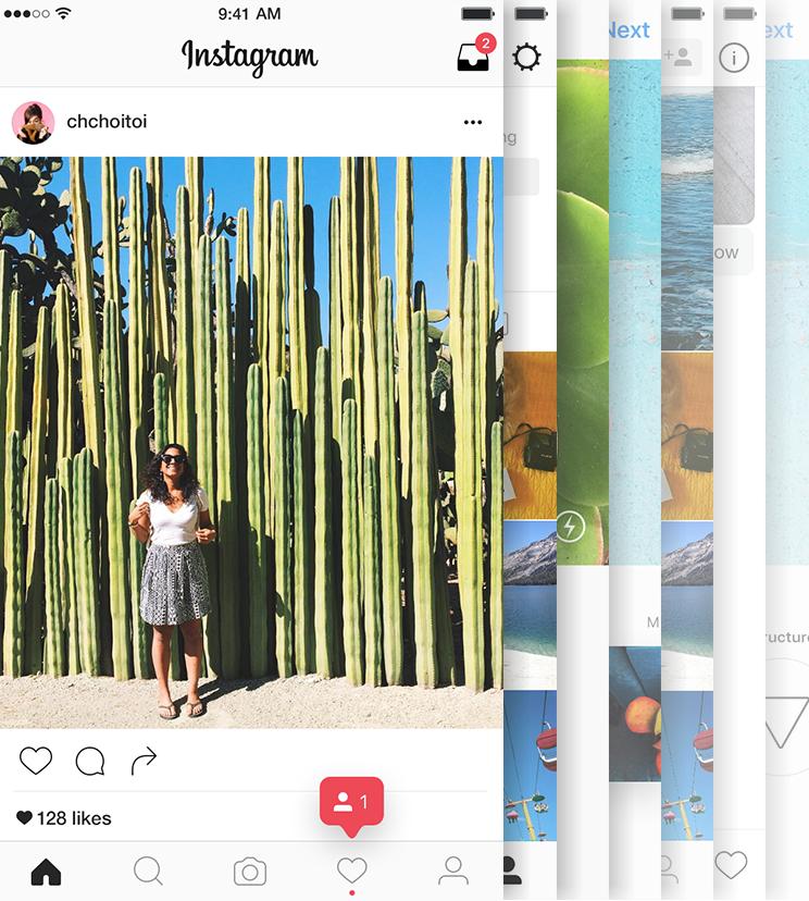 A screenshot from Facebook's Instagram app