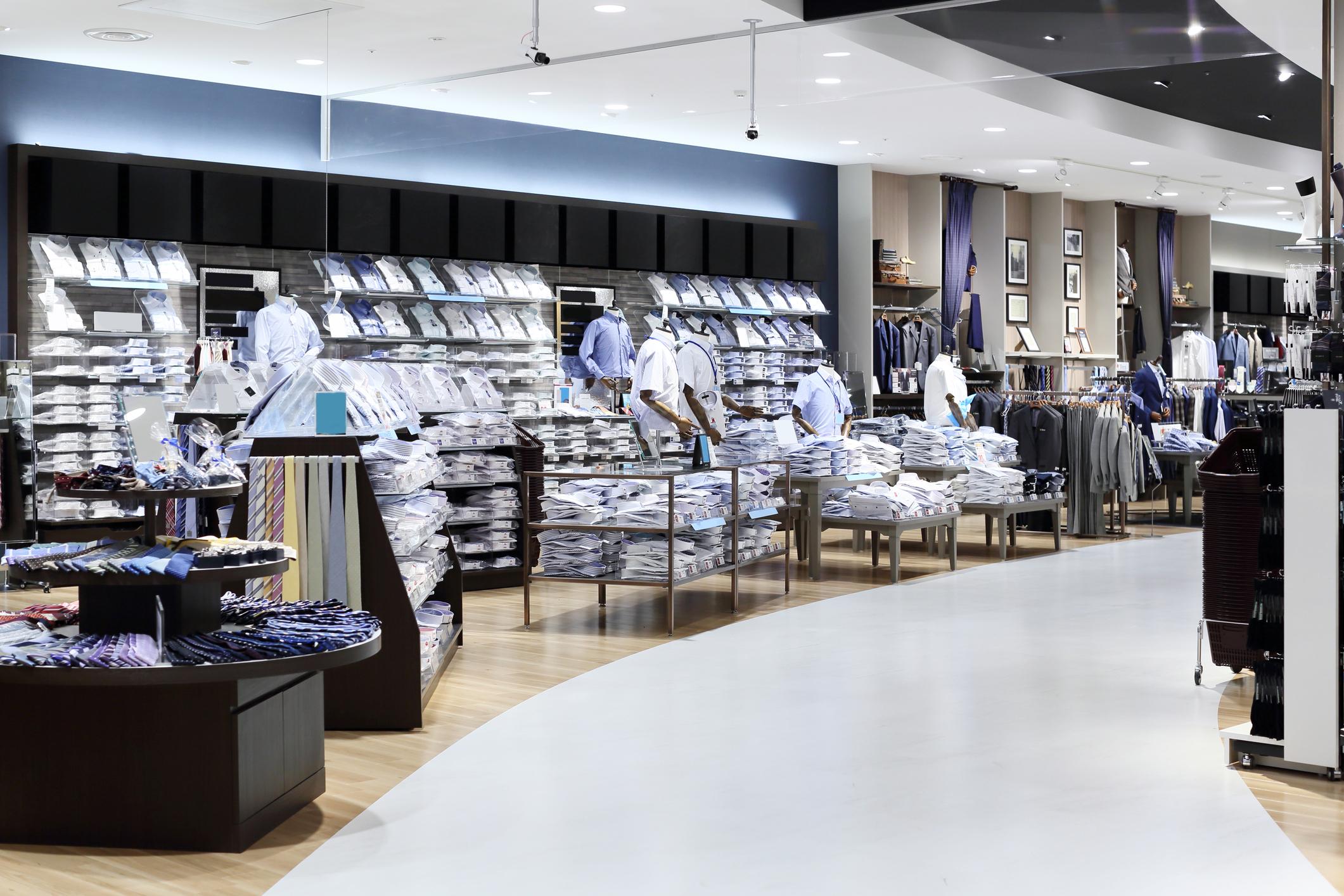 A department store's men's setion