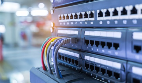 Ethernet cables and switch