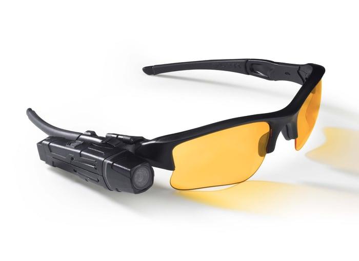 Flex camera attached to glasses.