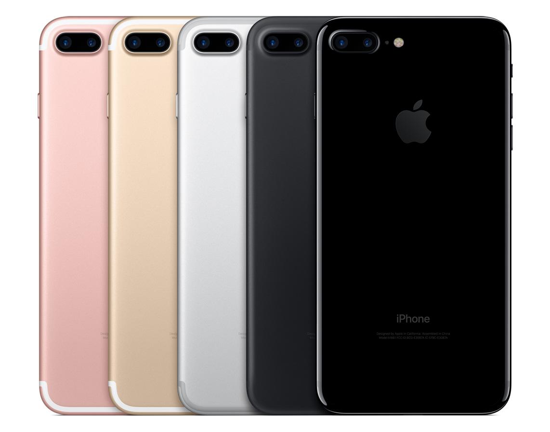 Apple's iPhone 7 Plus lineup.