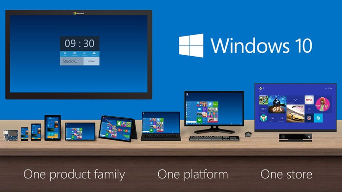 Windows 10 running across multiple platforms.