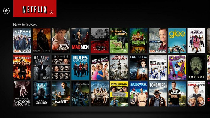 A content screen on Netflix