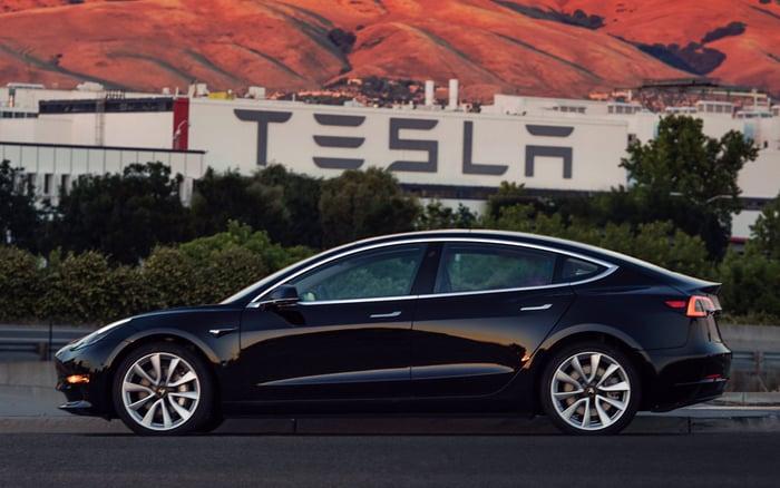 Production version of Tesla's Model 3