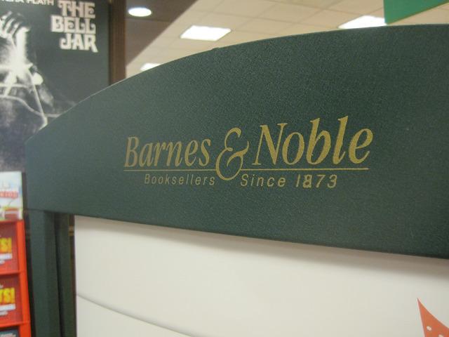 Barnes & Noble display sign