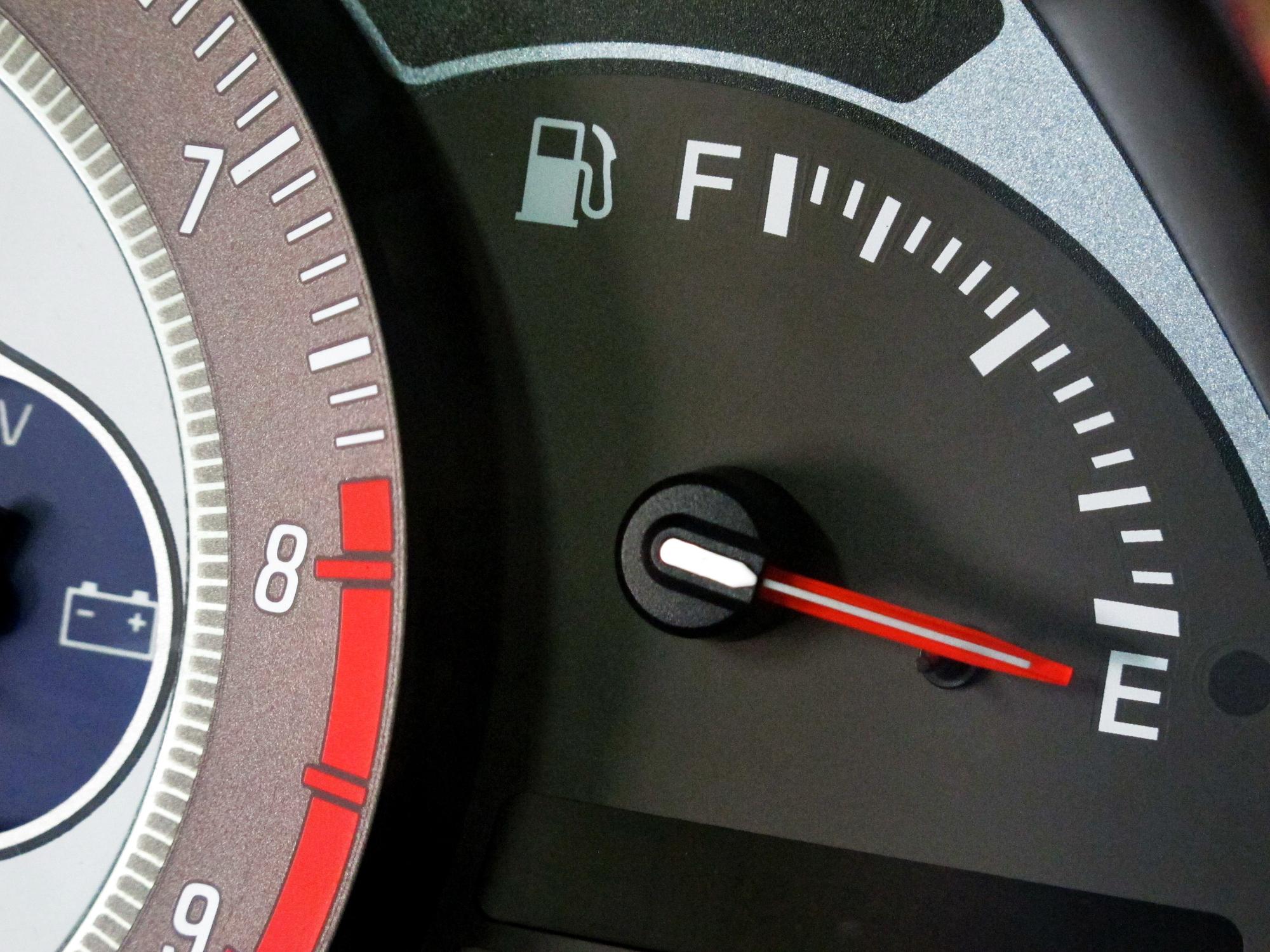 Fuel tank on empty.