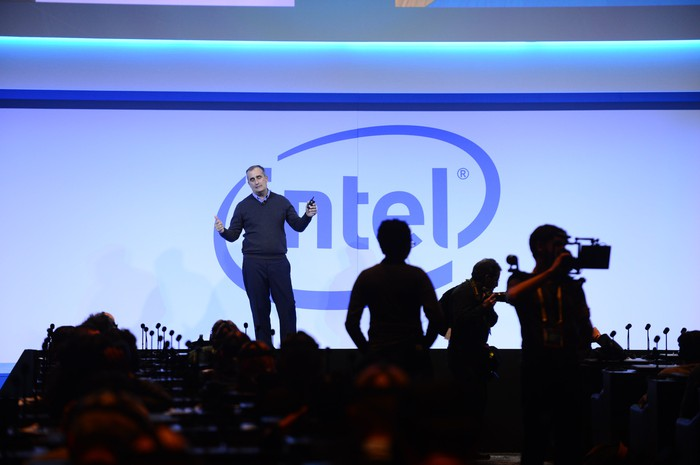Intel CEO Brian Krzanich on stage.