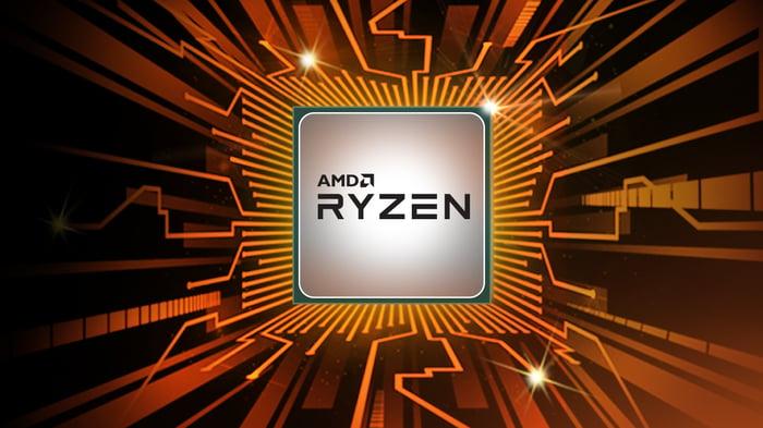An AMD Ryzen chip graphic.