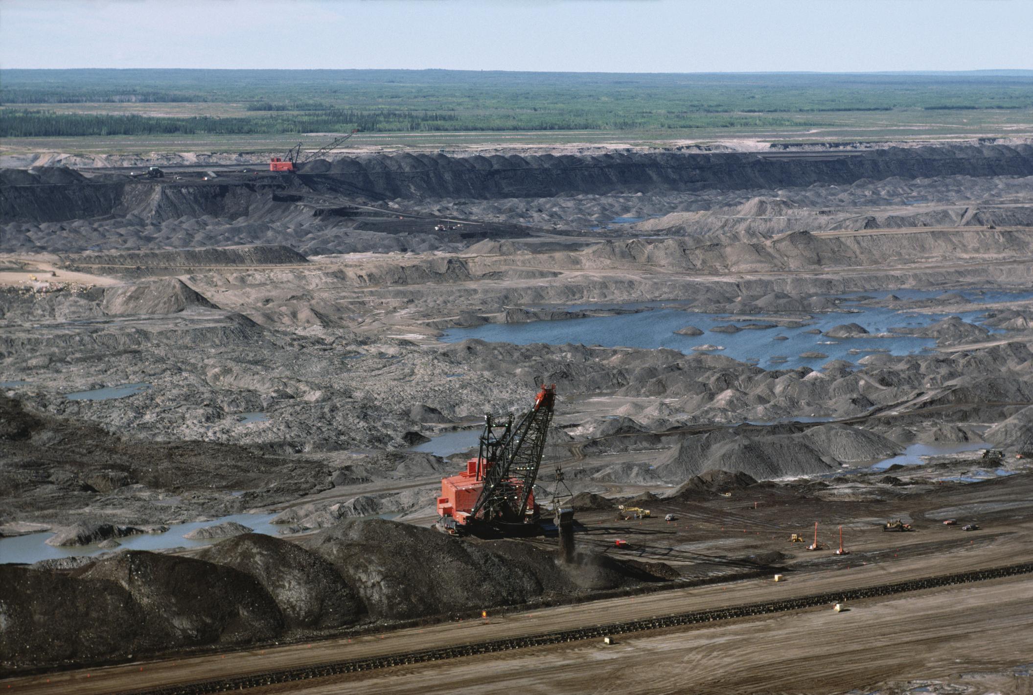 An oil sand mining field.