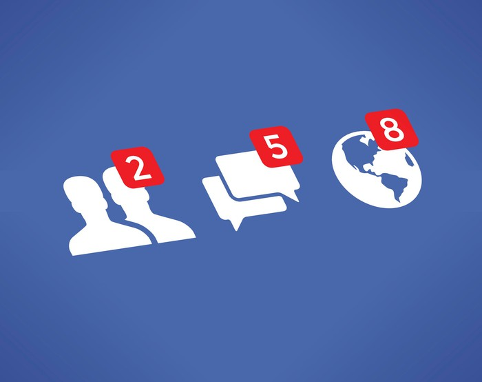 Social network interaction icon notifications