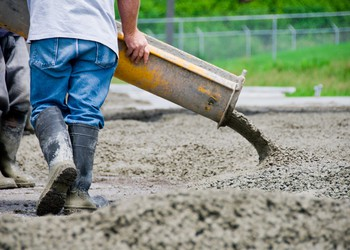 Pouring A Slab of cement.