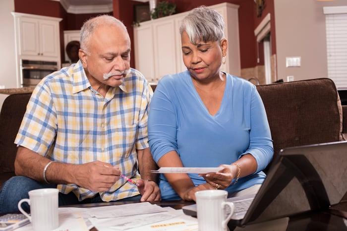 Senior couple worried about bills