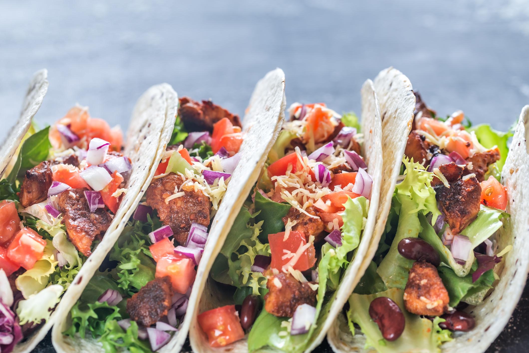Four tacos