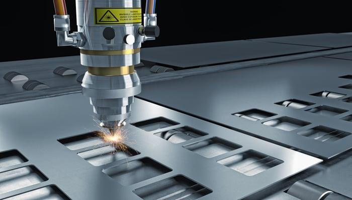 A laser cutting machine.