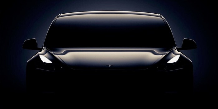 Black Model 3 teased in Tesla's event invitation art