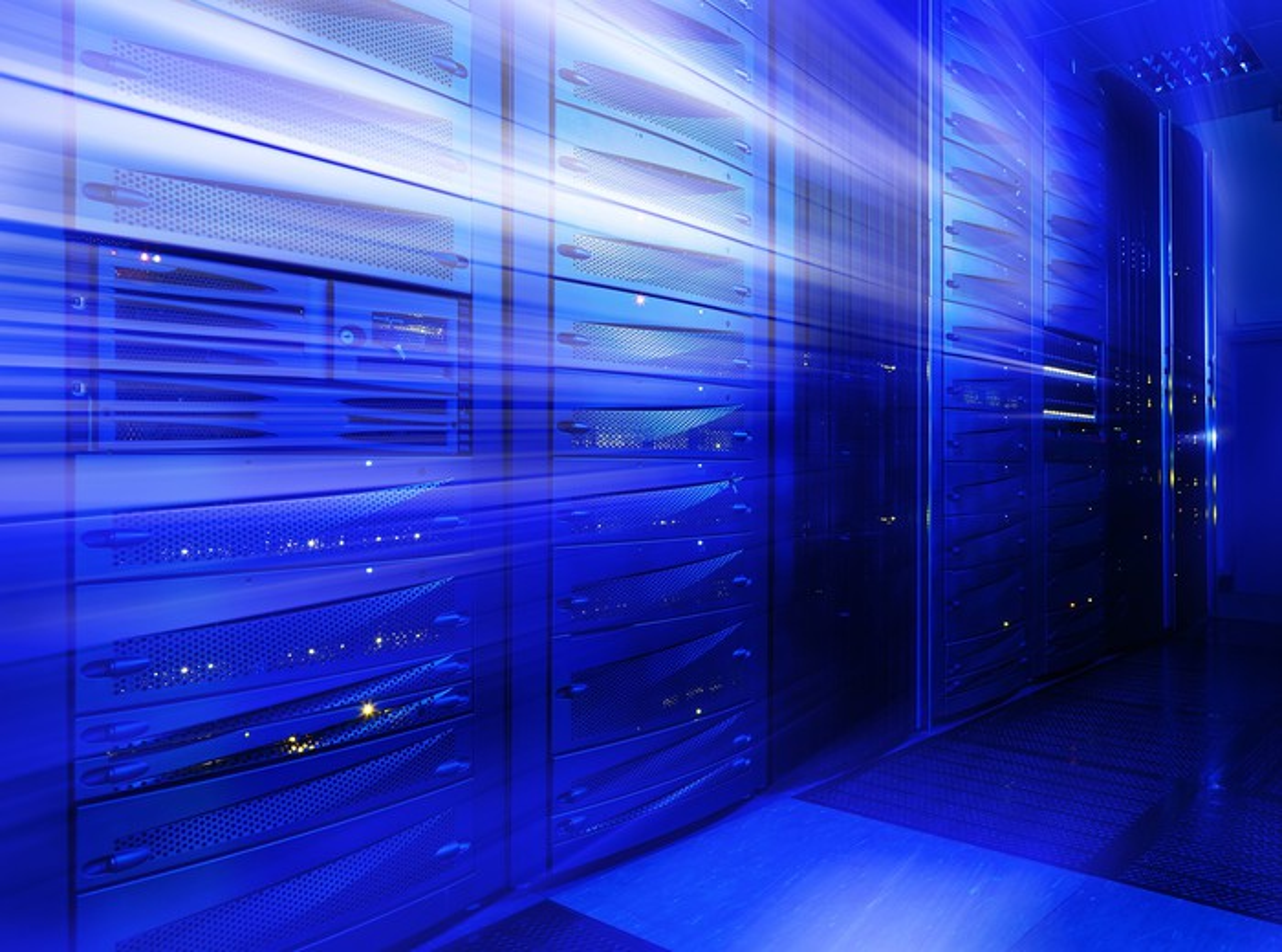 Stylized illustration of data center servers