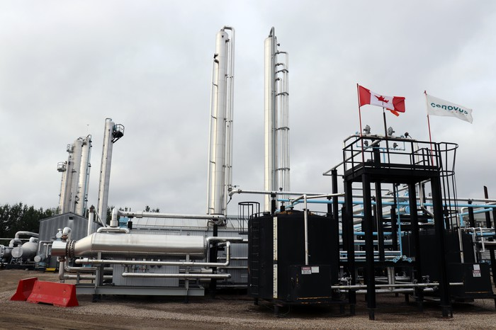 Cenovus's Wolf Lake Natural Gas Plant in the Deep Basin in west central Alberta.