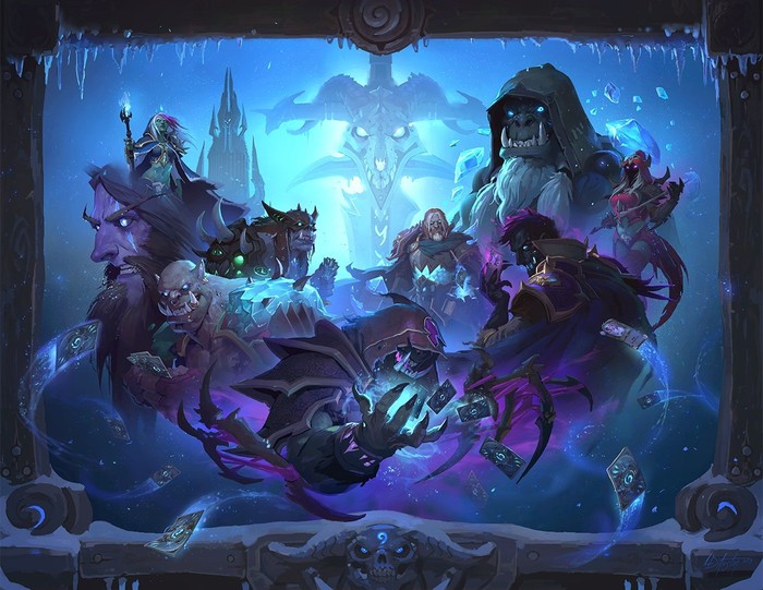 Image depicting the Knights of the Frozen Throne release of Hearthstone.