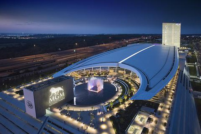 Aerial view of MGM National Harbor.