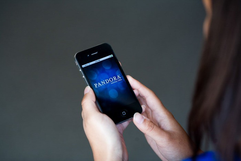 Pandora app display on a smartphone