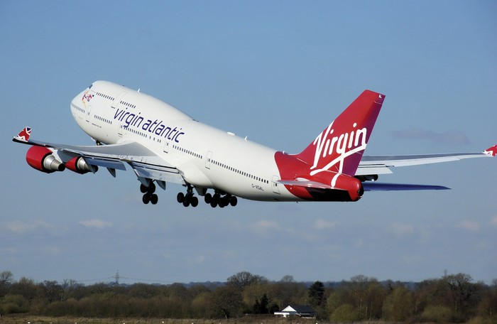 A Virgin Atlantic jumbo jet
