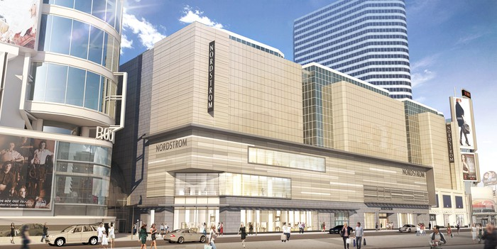 A rendering of Nordstrom's new store at Toronto's Eaton Centre